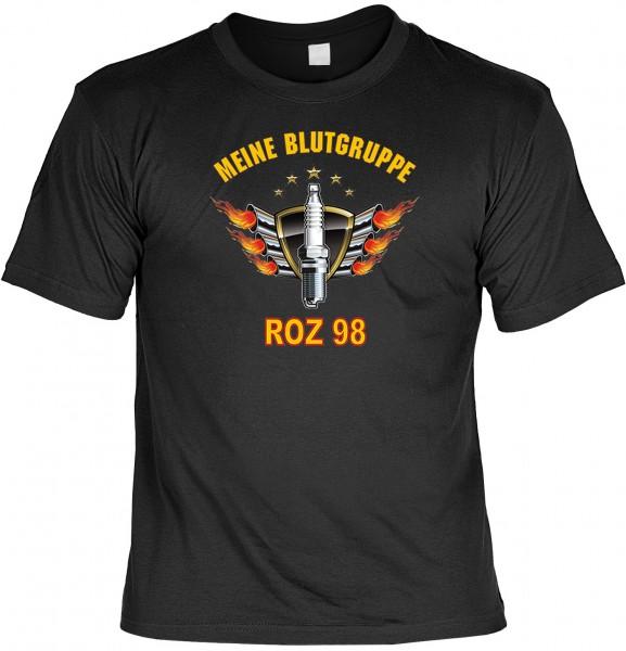 Biker T-Shirt: Meine Blutgruppe ROZ98