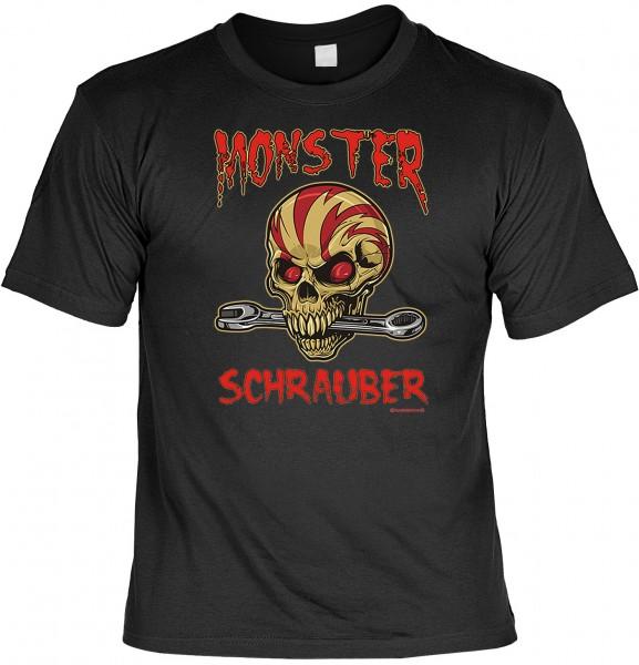 Biker T-Shirt: Monster Schrauber