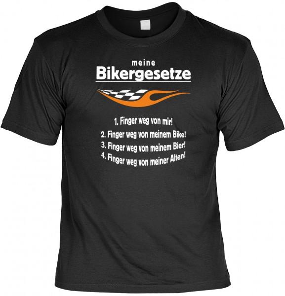 Biker T-Shirt: Meine Bikergesetze